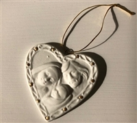 Holy Family Heart Porcelain, 3""