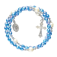 Sapphire Wrap Style Rosary Bracelet