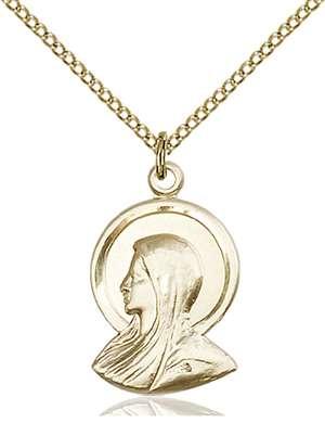 0020GF/18GF <br/>Gold Filled Madonna Pendant