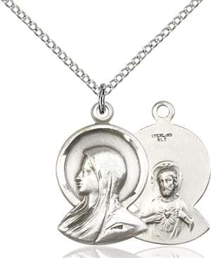 0020SS/18SS <br/>Sterling Silver Madonna Pendant
