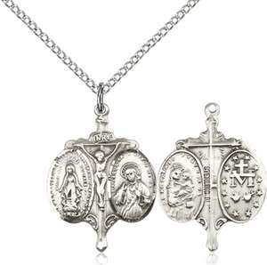 0021SS/18SS <br/>Sterling Silver Novena Pendant