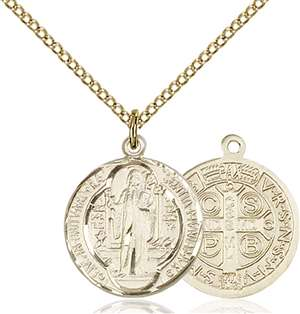 0026BGF/18GF <br/>Gold Filled St. Benedict Pendant