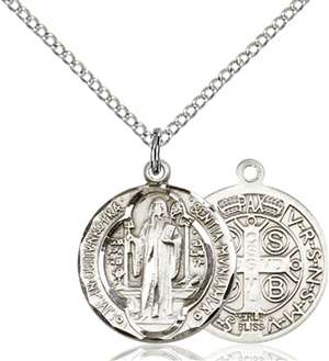 0026BSS/18SS <br/>Sterling Silver St. Benedict Pendant