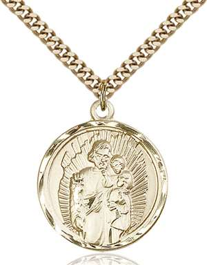 0036KGF/24G <br/>Gold Filled St. Joseph Pendant