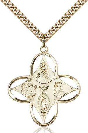 0039GF/24G <br/>Gold Filled 4-Way Pendant