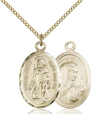 0046PGF/18GF <br/>Gold Filled St. Peregrine Pendant