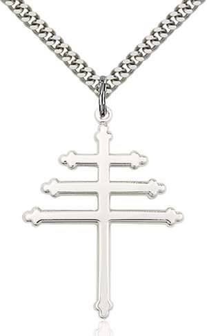 0064SS/24S <br/>Sterling Silver Marionite Cross Pendant