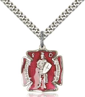 0070ESS/24S <br/>Sterling Silver St. Florian Pendant
