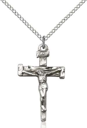 0073SS/18SS <br/>Sterling Silver Nail Crucifix Pendant