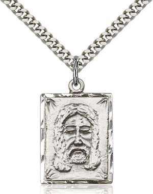 0075SS/24S <br/>Sterling Silver Holy Face Pendant