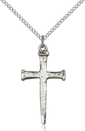0085SS/18SS <br/>Sterling Silver Nail Cross Pendant