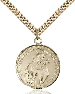 0101GF/24G <br/>Gold Filled St. Francis of Assisi Pendant