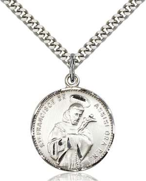 0101SS/24S <br/>Sterling Silver St. Francis of Assisi Pendant