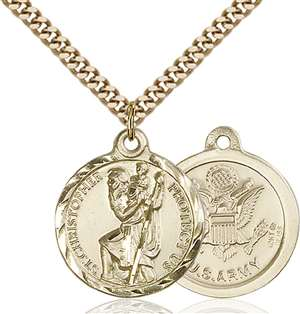 0192GF2/24G <br/>Gold Filled St. Christopher Pendant