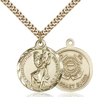 0192GF3/24G <br/>Gold Filled St. Christopher Pendant