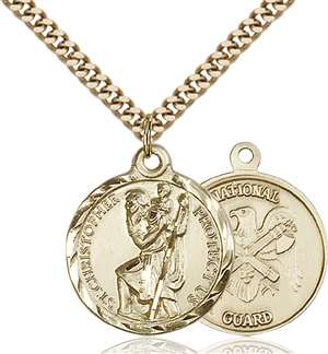 0192GF5/24G <br/>Gold Filled St. Christopher Pendant