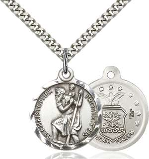 0192SS1/24S <br/>Sterling Silver St. Christopher Pendant