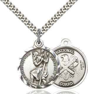 0192SS5/24S <br/>Sterling Silver St. Christopher Pendant