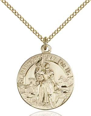 0193GF/18GF <br/>Gold Filled St. Joan of Arc Pendant