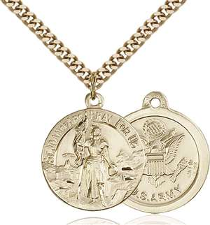 0193GF2/24G <br/>Gold Filled St. Joan of Arc Pendant