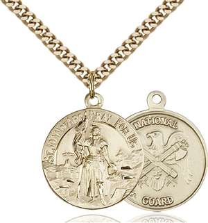 0193GF5/24G <br/>Gold Filled St. Joan of Arc Pendant