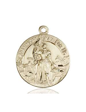 0193KT <br/>14kt Gold St. Joan of Arc Medal