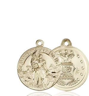 0193KT1 <br/>14kt Gold St. Joan of Arc Medal