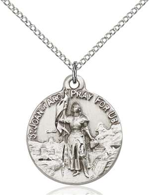 0193SS/18SS <br/>Sterling Silver St. Joan of Arc Pendant