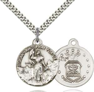 0193SS1/24S <br/>Sterling Silver St. Joan of Arc Pendant