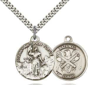 0193SS5/24S <br/>Sterling Silver St. Joan of Arc Pendant