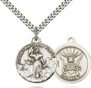 0193SS6/24S <br/>Sterling Silver St. Joan of Arc Pendant