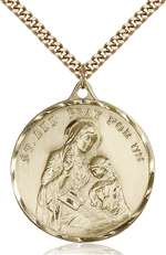 0203AGF/24G <br/>Gold Filled St. Ann Pendant