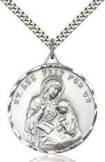 0203ASS/24S <br/>Sterling Silver St. Ann Pendant