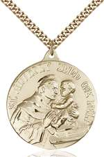 0203DGF/24G <br/>Gold Filled St. Anthony Pendant