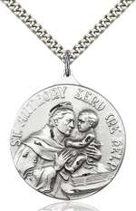 0203DSS/24S <br/>Sterling Silver St. Anthony Pendant