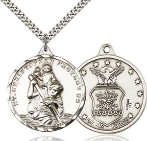 0203SS1/24S <br/>Sterling Silver St. Christopher Pendant