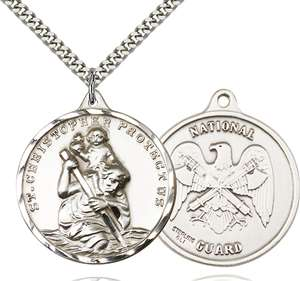 0203SS5/24S <br/>Sterling Silver St. Christopher Pendant