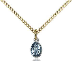0205SSG/18GF <br/>Gold Filled Miraculous Pendant