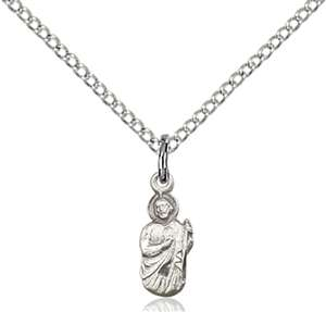 0210SS/18SS <br/>Sterling Silver St. Jude Pendant