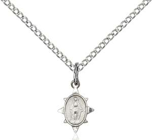 0212PLSS/18SS <br/>Sterling Silver Miraculous Pendant