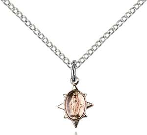 0212PSS/18SS <br/>Sterling Silver Miraculous Pendant