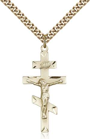 0249GF/24G <br/>Gold Filled St. Andrew Pendant