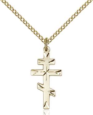 0250GF/18GF <br/>Gold Filled Cross Pendant