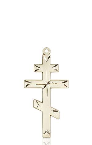 0251KT <br/>14kt Gold Cross Medal