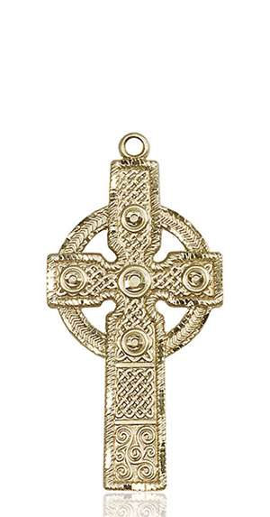 0253KT <br/>14kt Gold Cross Medal