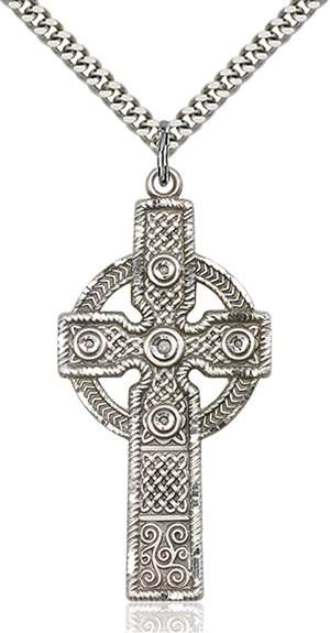 0253SS/24S <br/>Sterling Silver Cross Pendant