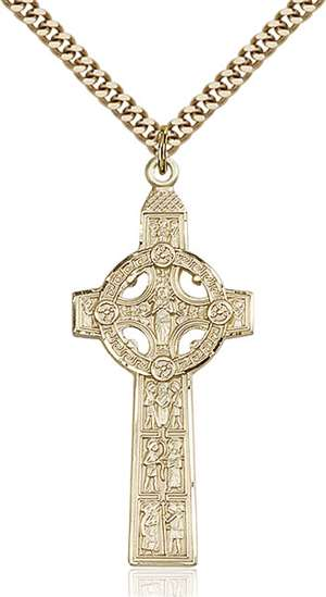 0255GF/24G <br/>Gold Filled Scriptures Cross Pendant