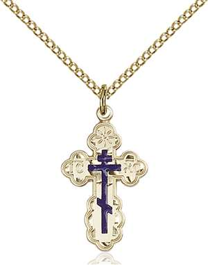 0256EGF/18GF <br/>Gold Filled St. Olga Pendant