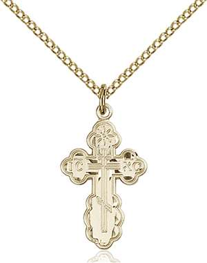 0256GF/18GF <br/>Gold Filled St. Olga Pendant