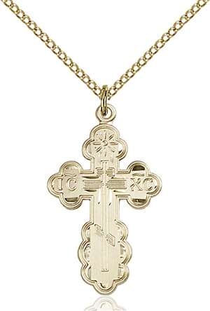 0257GF/18GF <br/>Gold Filled St. Olga Pendant
